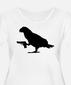 African grey with gun Plus Size T-Shirt