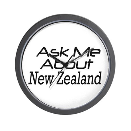 ASk New Zealand Wall Clock