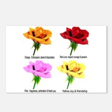Rose Meanings-2 Postcards (Package of 8)