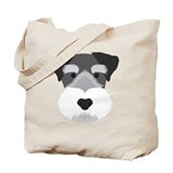 Miniature schnauzers Canvas Bags