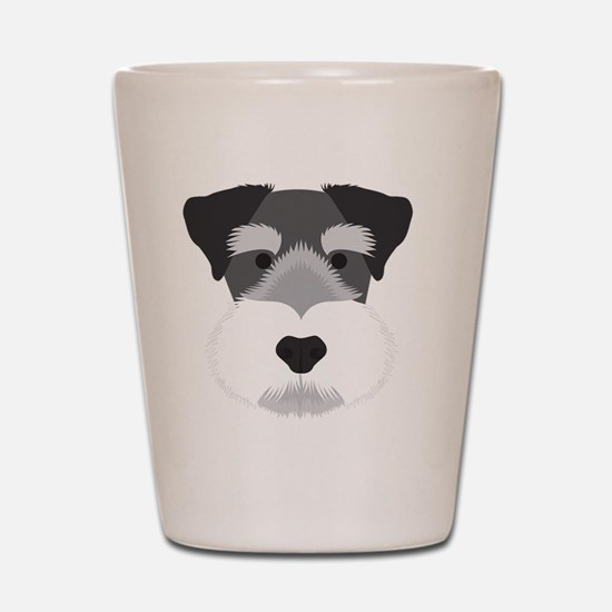 Cute Miniature schnauzer Shot Glass