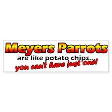 Potato Chips Meyers Parrots Bumper Bumper Sticker