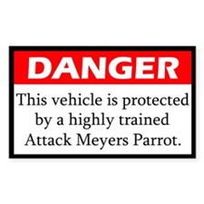 Danger Attack Meyers Parrot Decal