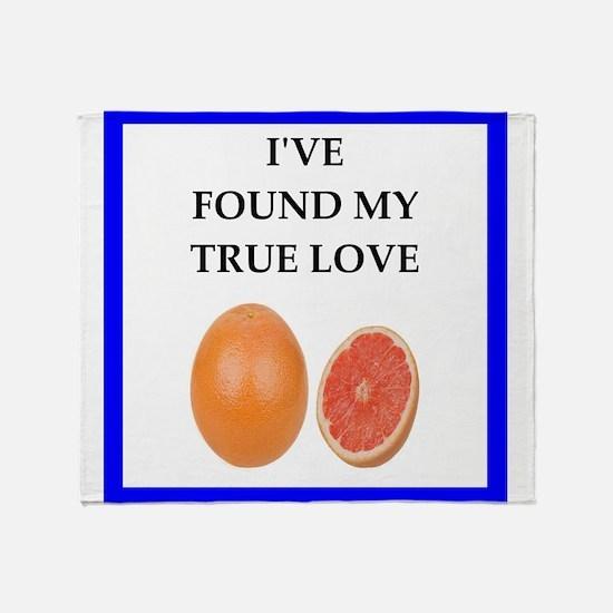 grapefruit Throw Blanket