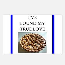 rhubarb pie Postcards (Package of 8)