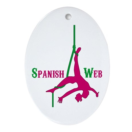 Spanish Web Oval Ornament