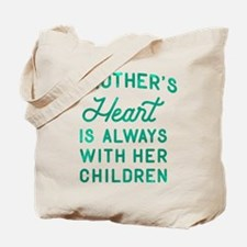A Mother's Heart Green Tote Bag