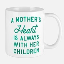 A Mother's Heart Green Mug