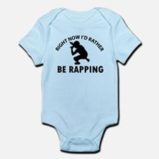 I'd Rather Be Playing Rapping Infant Bodysuit