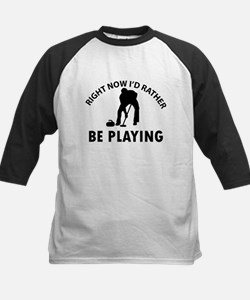 I'd Rather Be Playing Curling Kids Baseball Jersey