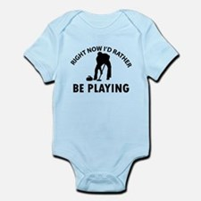 I'd Rather Be Playing Curling Infant Bodysuit
