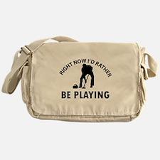 I'd Rather Be Playing Curling Messenger Bag