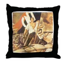 Anarchist Hero Throw Pillow