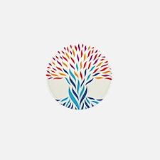 Psychedelic tree Mini Button