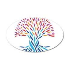 Psychedelic tree Wall Sticker