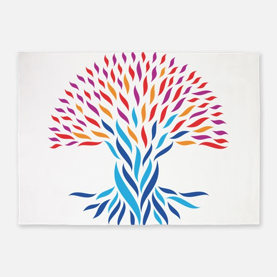 Psychedelic tree 5'x7'Area Rug