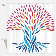 Psychedelic tree Shower Curtain