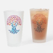 Psychedelic tree Drinking Glass