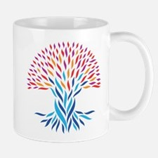 Psychedelic tree Mugs