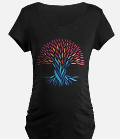 Psychedelic tree Maternity T-Shirt