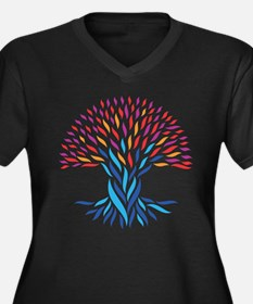 Psychedelic tree Plus Size T-Shirt