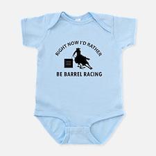 I'd Rather Be Playing Barrel Racin Infant Bodysuit