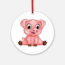 Piggie Round Ornament