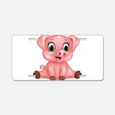 Piggie Aluminum License Plate