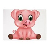 Cute pig Area Rugs