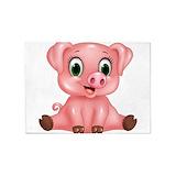 Cute pig 5x7 Rugs