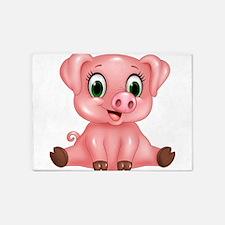 Piggie 5'x7'Area Rug