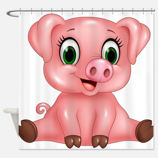 Piggie Shower Curtain
