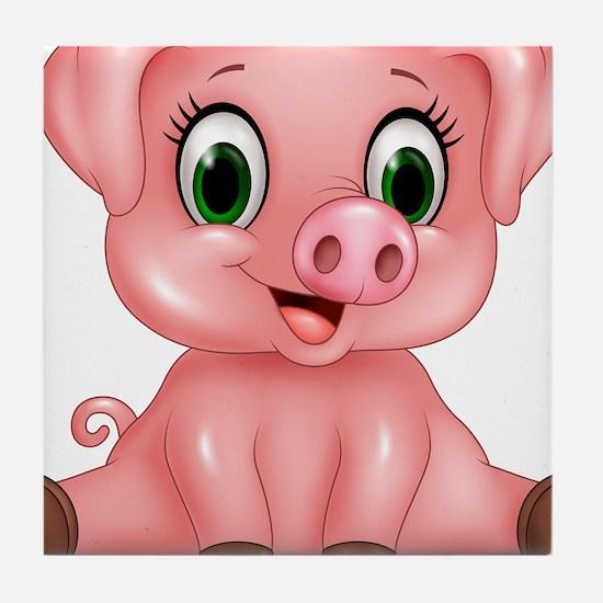 Piggie Tile Coaster