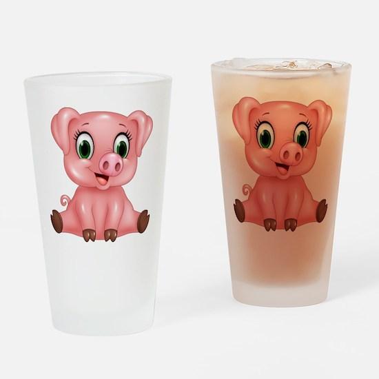 Piggie Drinking Glass