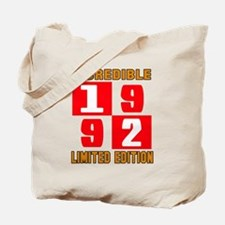 Incredible 1992 Limited Edition Tote Bag