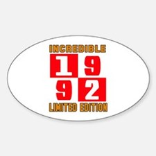 Incredible 1992 Limited Edition Sticker (Oval)
