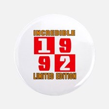 Incredible 1992 Limited Edition Button