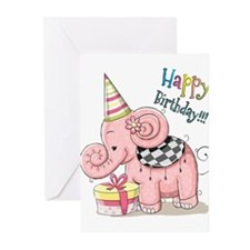 Happy birthday elephant Greeting Cards