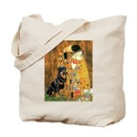Kiss & Rottweiler Tote Bag