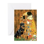 Kiss & Rottweiler Greeting Cards (Pk of 20)