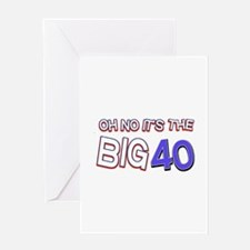 Oh No It Is The Big 40 Greeting Card
