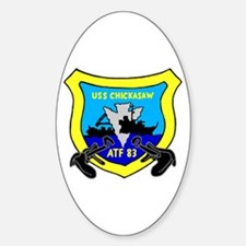 USS Chickasaw (ATF 83) Oval Decal
