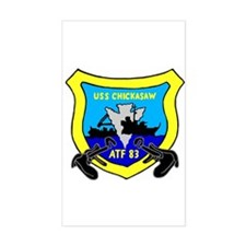 USS Chickasaw (ATF 83) Rectangle Decal