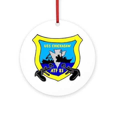 USS Chickasaw (ATF 83) Ornament (Round)