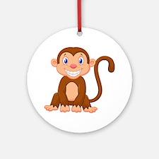 Monkeying around Round Ornament