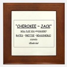 Cherokee Jack Framed Tile