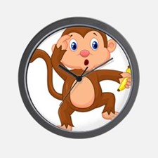 Monkeying around Wall Clock