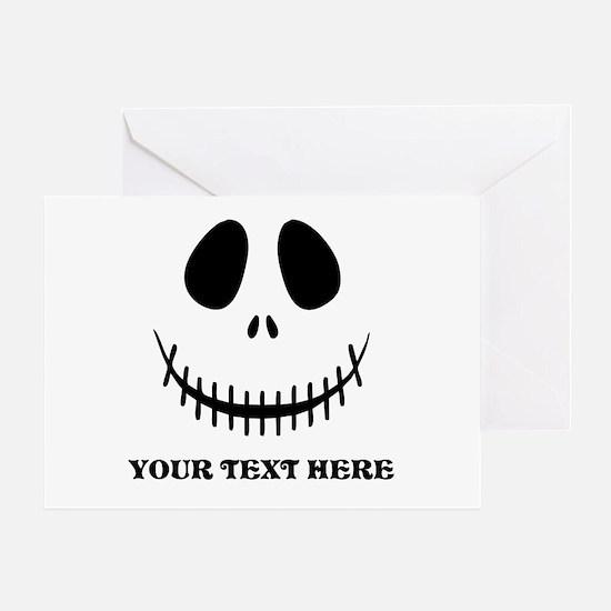Custom Halloween Skeleton Greeting Card