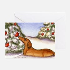 Weiner Dog in Snow Christmas Cards (10)