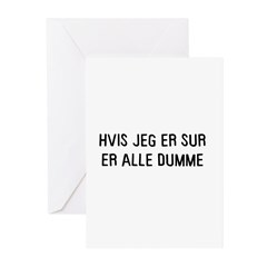 Hvis jeg er sur Greeting Cards (Pk of 20)